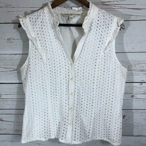 Tommy Hilfiger. Button Down Tank Blouse